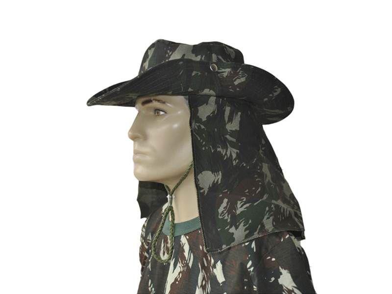 Chapéu de Selva Camuflado com Aba