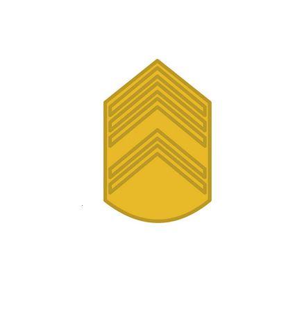 Divisa de Gola Metal de 1° Sargento (Unidade)