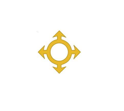 Divisa de Gola Comunicações Metal (Unidade)