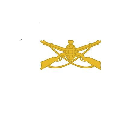 Divisa de Gola Metal EB Infantaria (Unidade)