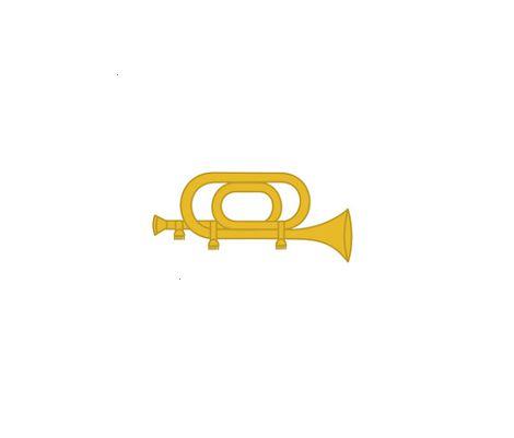 Divisa de Gola Metal Corneteiro (Unidade)
