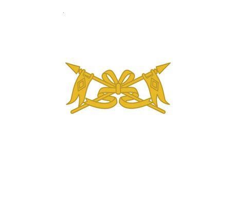 Divisa de Gola Metal Cavalaria (Unidade)