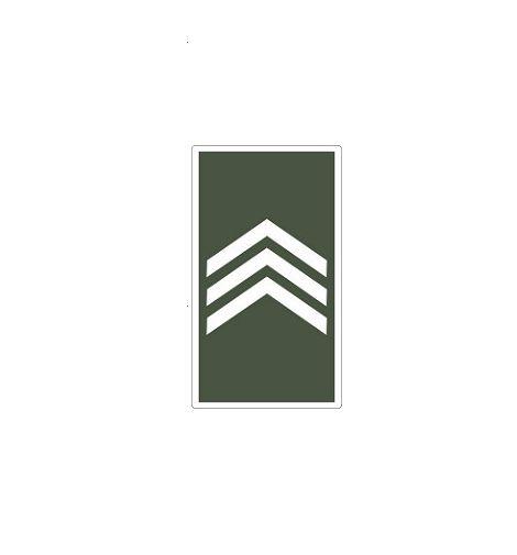 Divisa de Gola 3° Sargento (Emborrachado)
