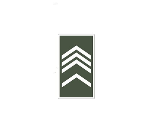 Divisa de Gola 2° Sargento (Emborrachado)