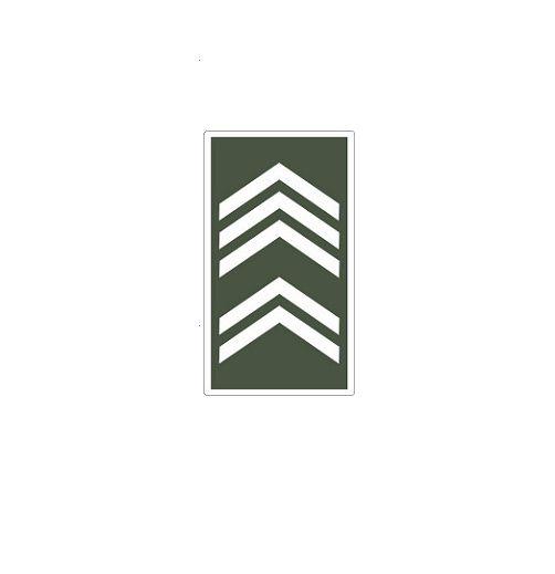 Distintivo de 1° Sargento (Emborrachado)