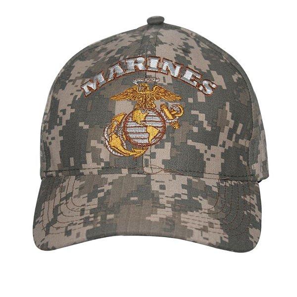 Boné Bordado Marines Camuflado Digital ACU