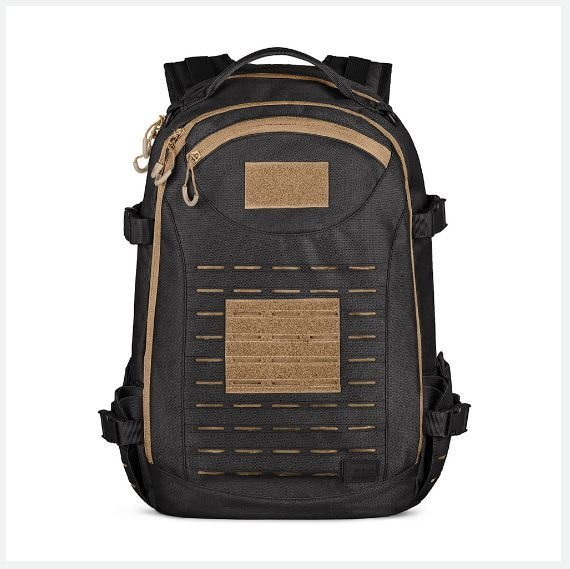 Mochila Rusher Preto-Coyote 2.0 (Invictus)