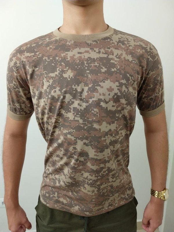 Camiseta Camuflada Digital Areia