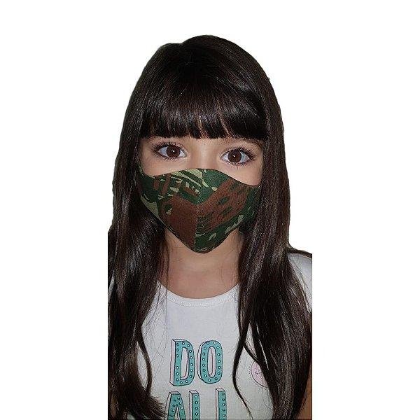 Máscara Proteção Camuflada Infantil (Tecido)