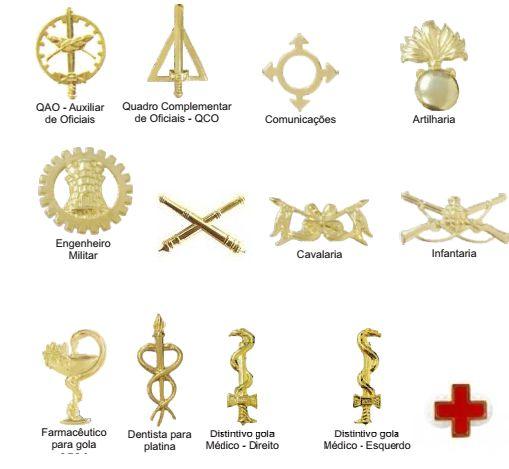 Distintivos Dourados de Gola EB  (Unidade)
