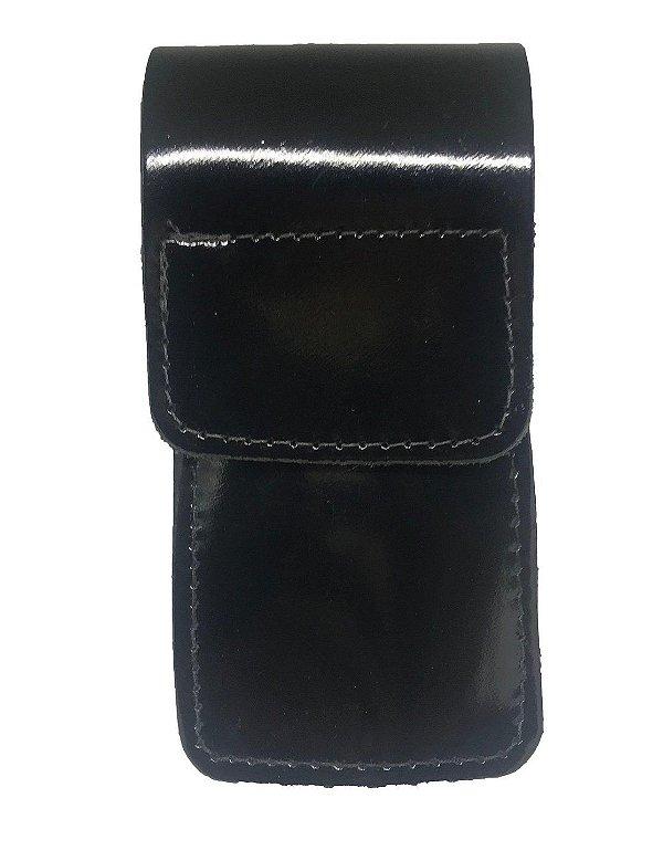 Porta Celular /Smartphone Couro Preto