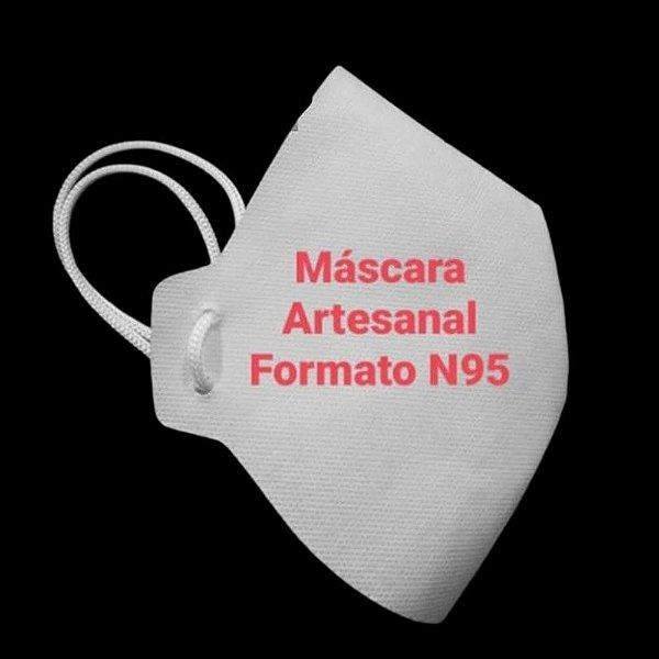 Máscara Artesanal TNT (Branca)