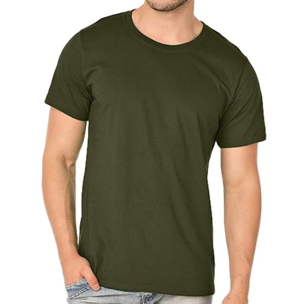 Camiseta Verde Oliva Básica (Poliflex)
