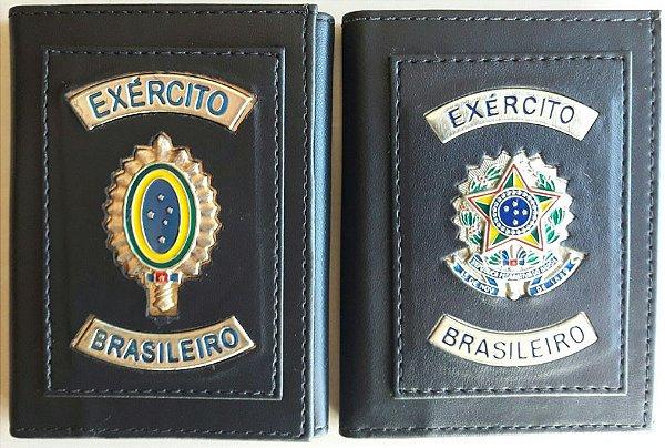 Carteira Exército Brasileiro em Couro Legítimo - Toca Militar ... 5949fd8842c