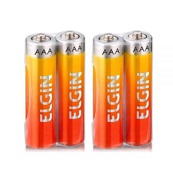 Pilha Alcalina Elgin Energy AAA  (Pacote com 4)