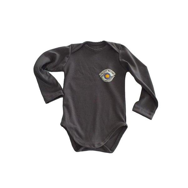 Body Bebê Policia Militar Manga Longa (PMSP)