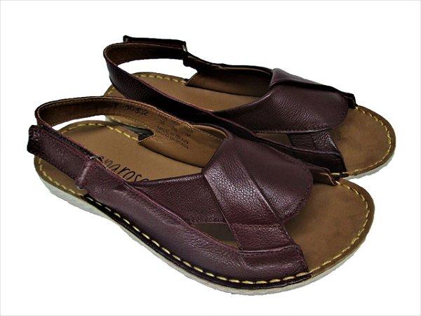 Sapatos de Couro Lev Comfort Casual e Elegante F10302