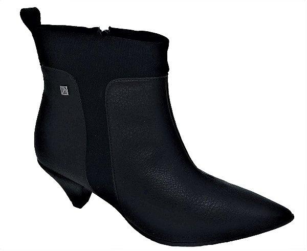 Ankle Boot Piccadilly Salto Médio com Elástico 119015