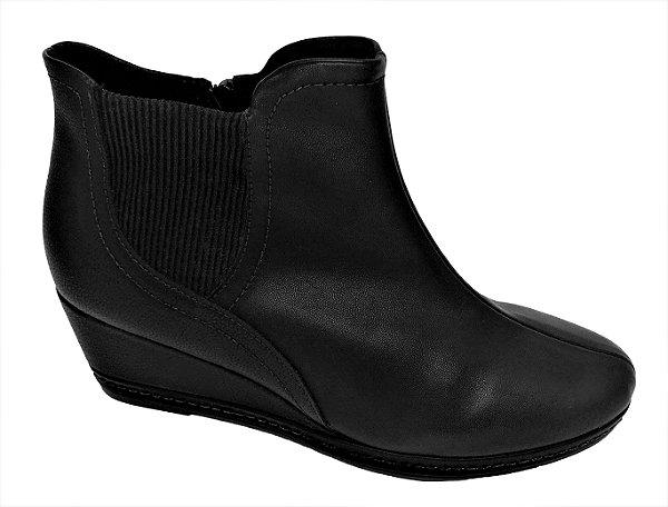 Ankle Boot Piccadilly Anabela Médio com Elástico 448003