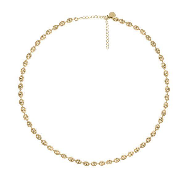 GARGANTILHA 50cm com 55 BÚZIOS pequenos em semi joia banhado em ouro18k