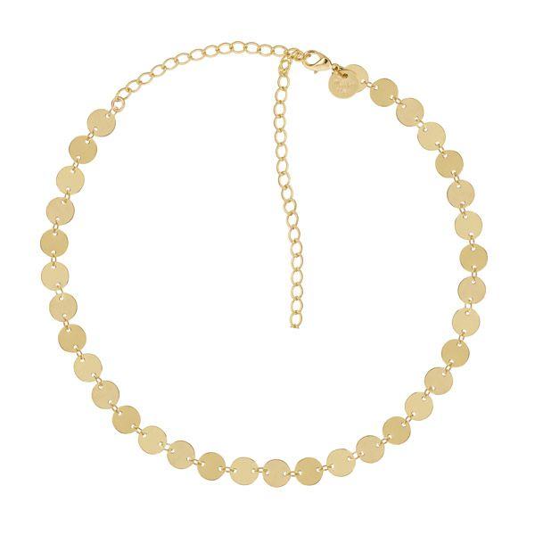 Gargantilha de esferas em ouro 18k