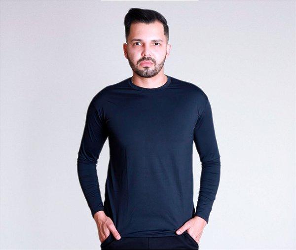 Camiseta manga longa UV preta