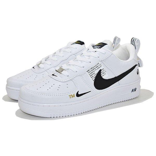 Tênis Nike Air Force 1 TM Branco/Preto