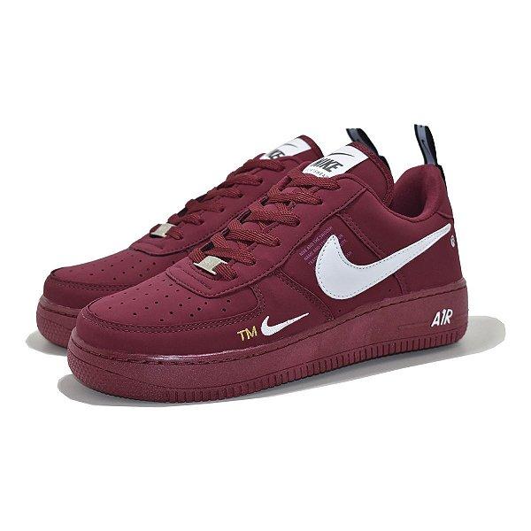Tênis Nike Air Force 1 TM Bordô