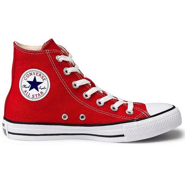 Tênis Converse All Star Cano Alto Vermelho