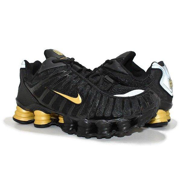 Tênis Nike Shox TL 12 Molas Preto/Dourado