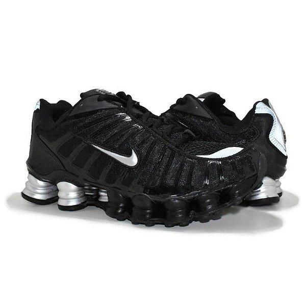 Tênis Nike Shox TL 12 Molas Preto/Prata