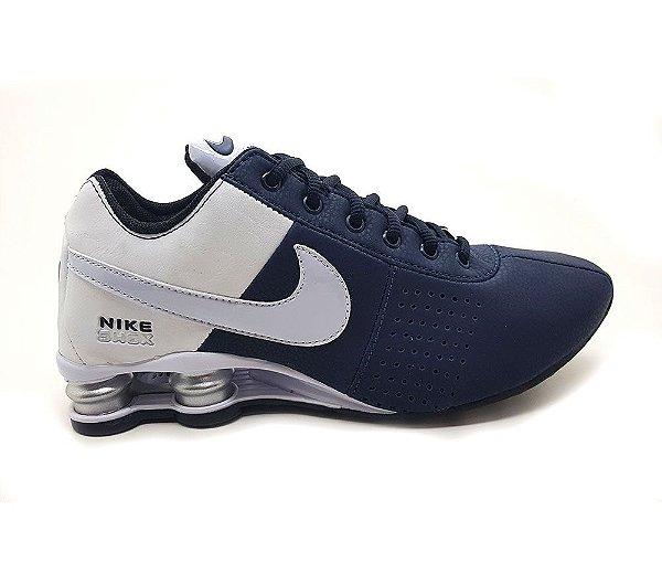 Tênis Nike Shox Deliver Marinho/Branco