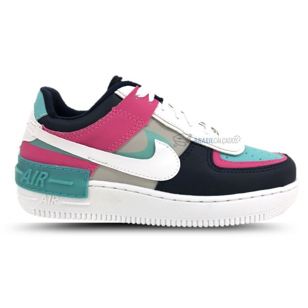 Tênis Nike Air Force 1 Shadow Rosa/Verde-Água