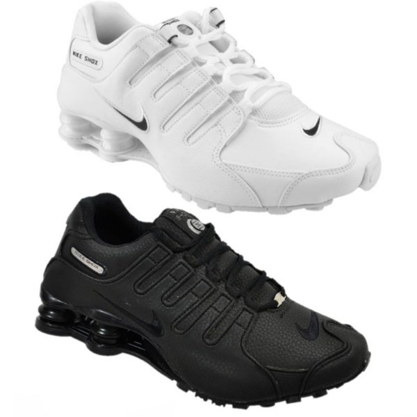 Kit 2 Pares Tênis Nike Shox NZ Branco + Preto