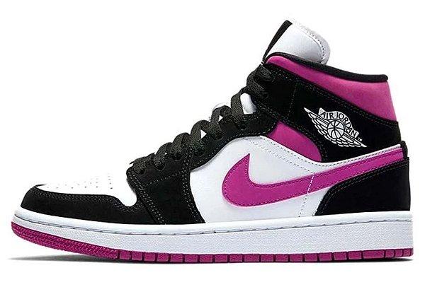 Tênis Nike Air Jordan 1 Preto/Pink