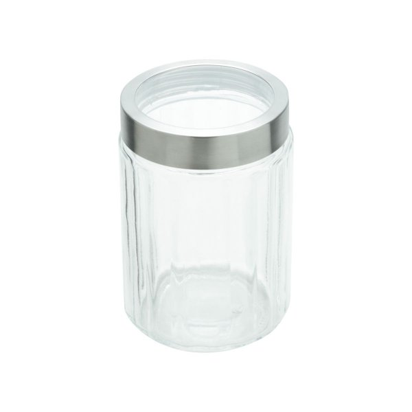 Pote Porta Mantimentos de Vidro com Tampa Inox Sydney 1,2L LYOR