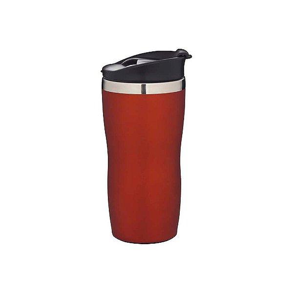 Copo de Aco Inox Coffe To Go Vermelho 450ml MOR