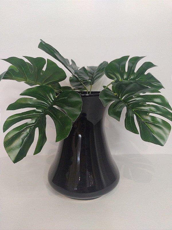 Vaso Bojo Preto de Ceramica 13x18,5cm