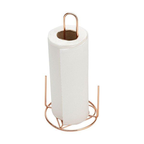 Porta Papel Toalha Ferro Rose 28,5 cm