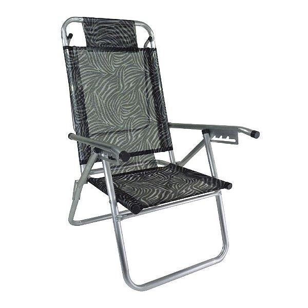 Cadeira de Praia Infinita UP Colors Zebra 120kg ZAKA