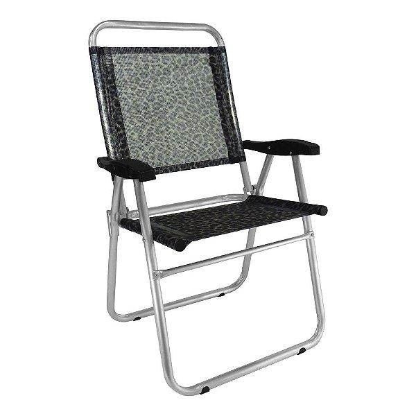 Cadeira de Praia Cancun Plus Colors Onca 120kg ZAKA