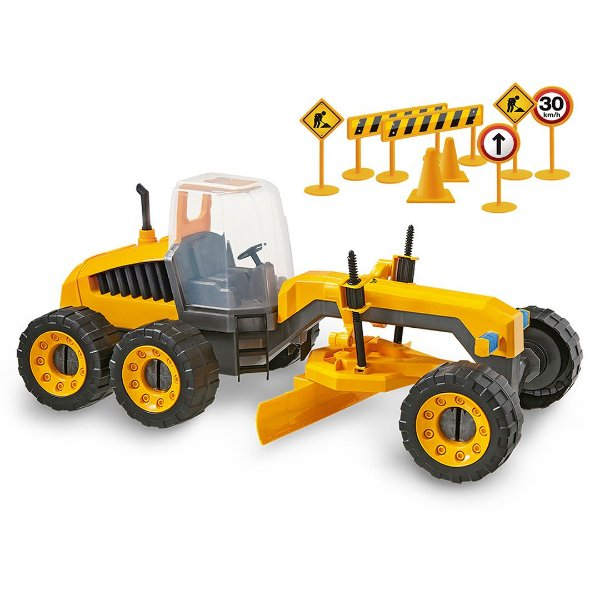 Patrola Trator Motoniveladora de Brinquedo