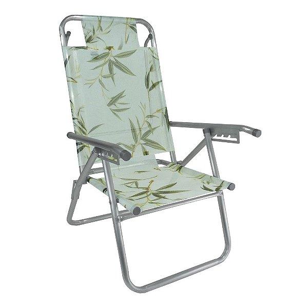 Cadeira de Praia Infinita UP Colors Bambu 120kg ZAKA