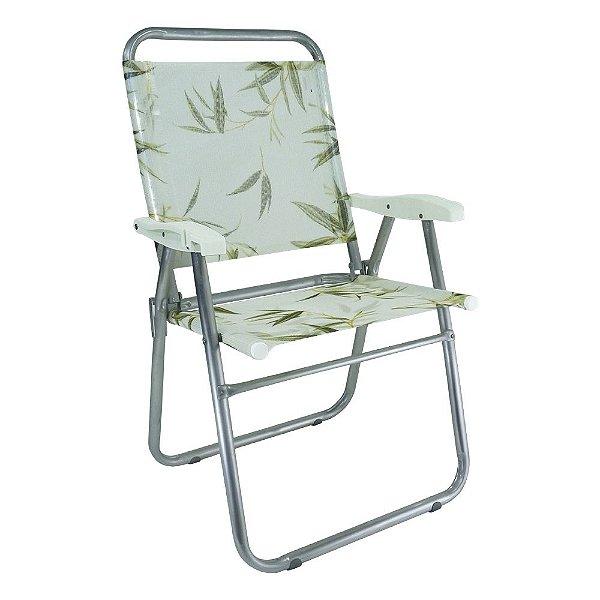 Cadeira de Praia Cancun Plus Colors Bambu 120kg ZAKA