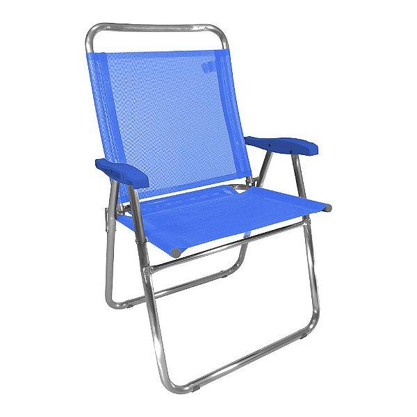 Cadeira de Praia King Azul 140kg ZAKA