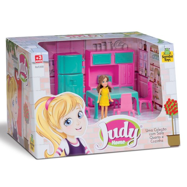 Colecao Judy Com Boneca Cozinha Completo