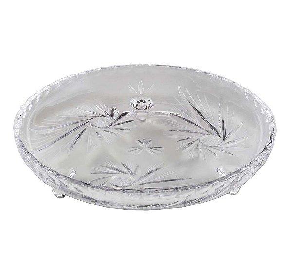 Prato Decorativo com 3 Pes de Cristal Prima LYOR