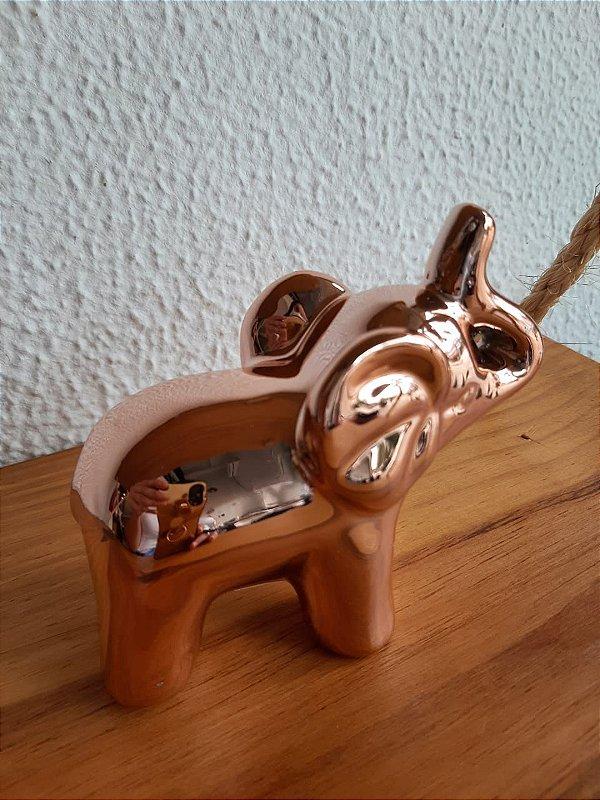 Elefante Decorativo Pequeno Rose 8,5X4X9cm