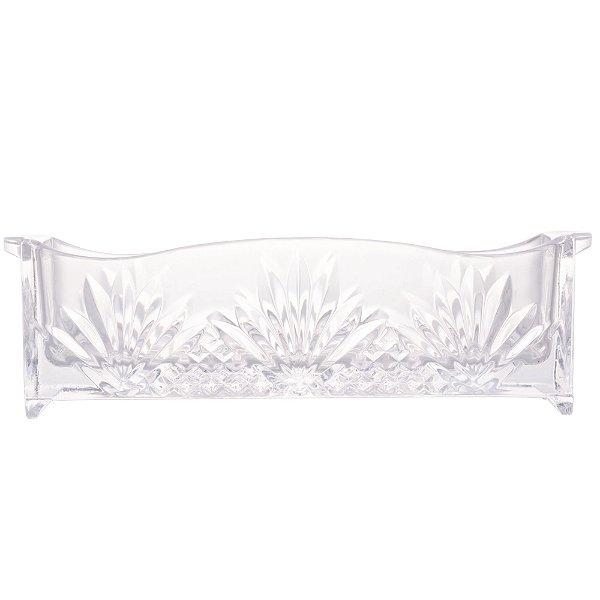 Porta Talher de Cristal Dublin 27x8x9cm