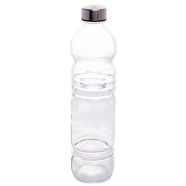 Garrafa de Vidro com Tampa Plastica Cinza Standard 1,1L LYOR